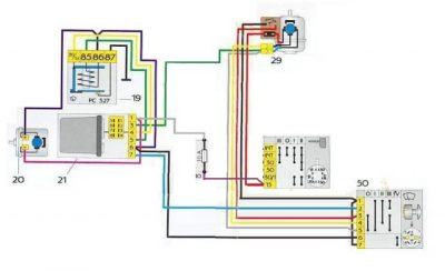 электросхема на уаз 469