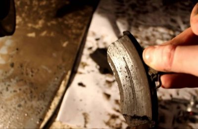 как поменять задние колодки на калине