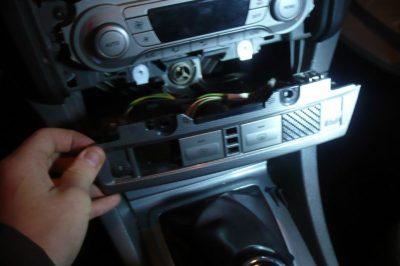 снять магнитолу форд фокус 2