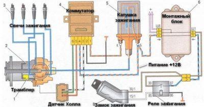 электросхема на ваз 2110