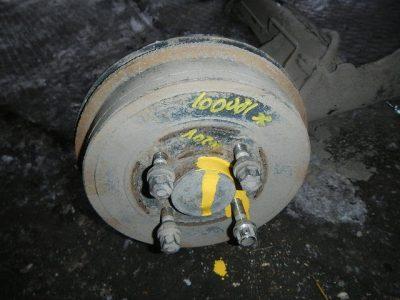как снять тормозной барабан рено логан