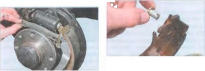 замена задних колодок ниссан альмера