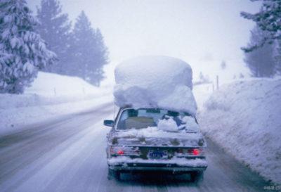 как чистить машину от снега