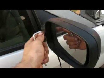 замена зеркала бокового вида рено логан